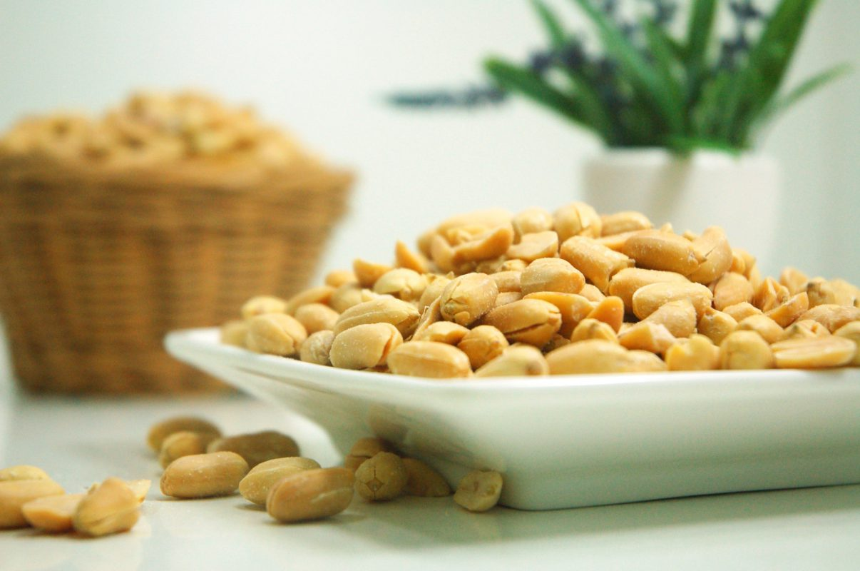 photo of a bowl of peanuts