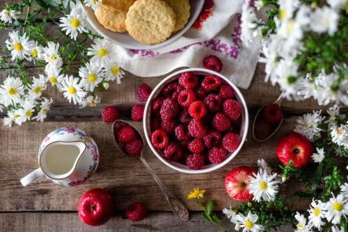 photo of bowl of berries and apples